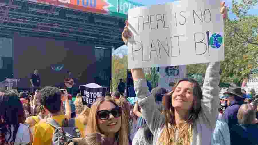 Gisele Bündchen no protesto global Climate Strike - Reprodução/Instagram