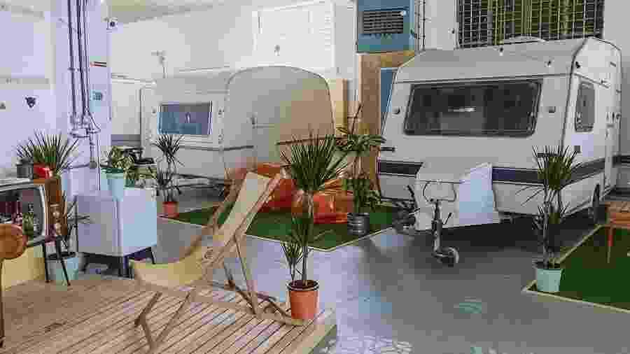 Towed Town Camping, em Bristol, no Reino Unido - Reprodução/Instagram