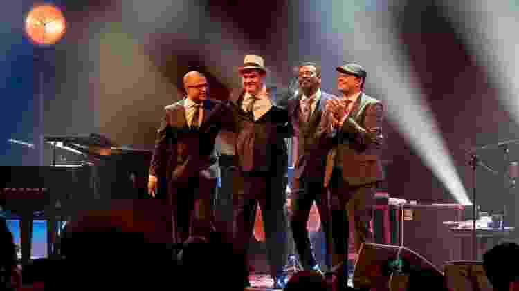 Sidão Santos (baixo), Daniel Jobim (piano), Seu Jorge (voz) e Adriano Trindade (bateria) - Edu Defferrari