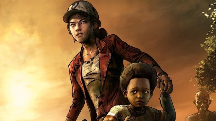 """Clementine e AJ em arte da última temporada de """"The Walking Dead"""", da Telltale - Reprodução"""