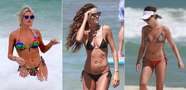 Thalita Zampirolli, Izabel Goulart e Ísis Valverde usam microbiquínis para ir à praia - Agnews