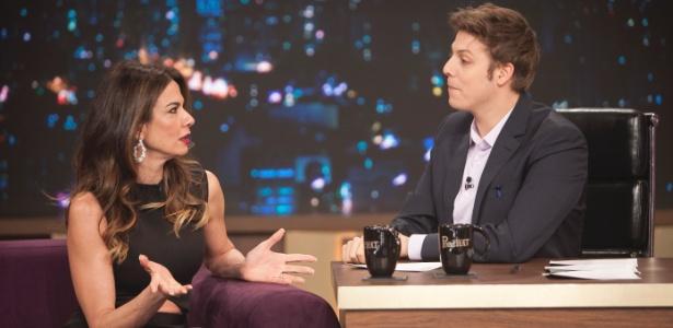 """Luciana Gimenez  diz, no """"Programa do Porchat"""", que foi apresentada a Mick Jagger pela jornalista e apresentadora Gloria Maria - Edu Moraes/Record"""