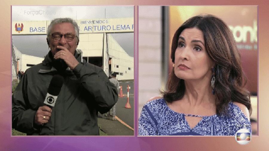 """Ari Peixoto explica choro durante cobertura ao vivo, no """"Jornal Hoje""""; repórter volta a se emocionar - Reprodução/TV Globo"""