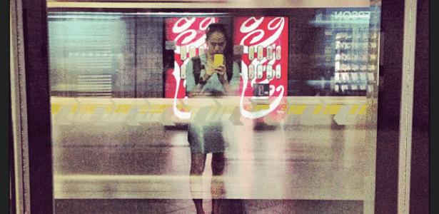 Em sua última visita a São Paulo, Yumiko fez esta foto no metrô paulistano - Arquivo pessoal - Arquivo pessoal