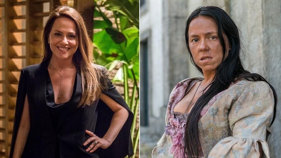"""Vivianne Pasmanter como Lili de """"Totalmente Demais"""" e Germana de """"Novo Mundo"""" - Montagem/fotos de divulgação TV Globo"""