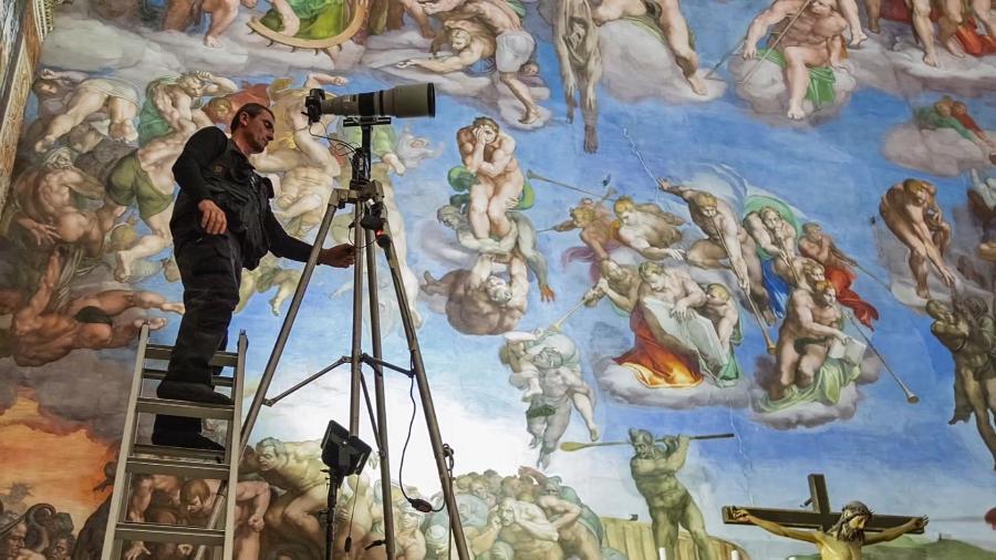 Imagem da capela Sistina, no Vaticano - BBC