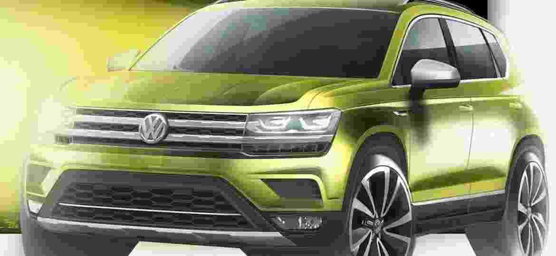 Esboço do futuro SUV pequeno: apesar do porte abrutalhado de frente e caixas de rodas, entre-eixos é curto - Reprodução