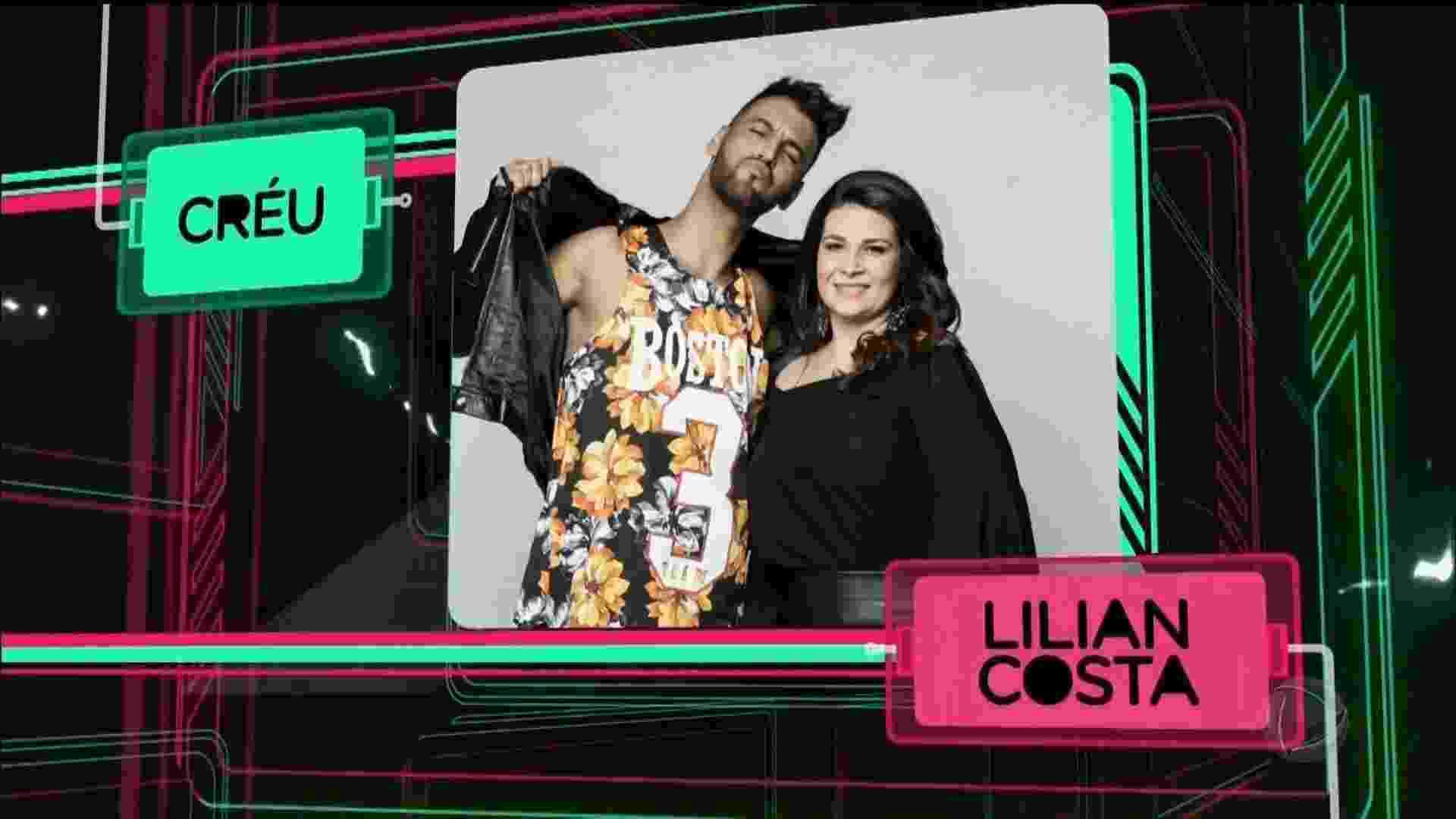 O funkeiro Créu e a mulher, a produtora Lilian Costa - Reprodução/Record