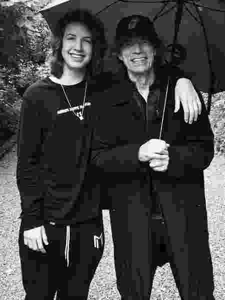 Lucas e Mick Jagger - Instagram