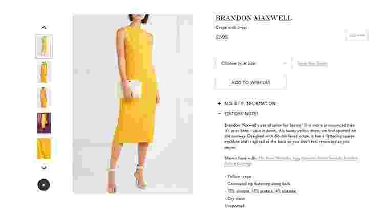 Vestido de Meghan Markle - Reprodução - Reprodução