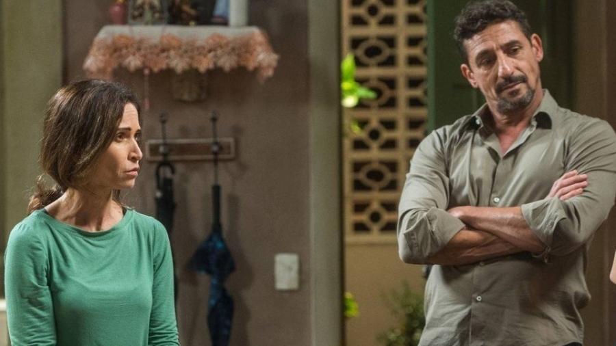 """Ingra Lyberato é Fátima, mulher de Juarez(Tuca de Andrade). Ela e o marido são os novos traficantes de """"Segundo Sol"""" - Divulgação/TV Globo"""