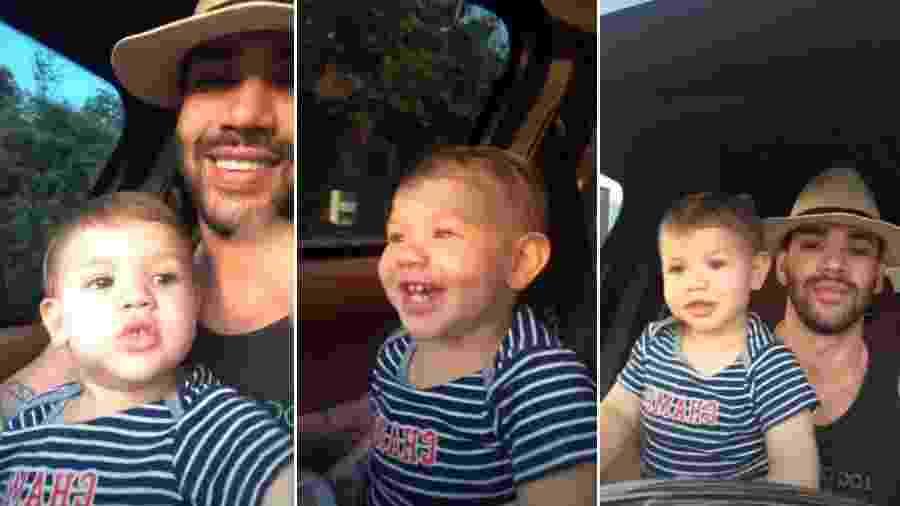 Gusttavo Lima com o filho Gabriel - Reprodução/Instagram