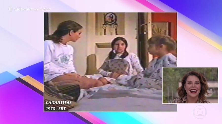"""Globo erra data de """"Chiquititas"""", novela do SBT, no """"Vídeo Show"""" - Reprodução/TV Globo"""