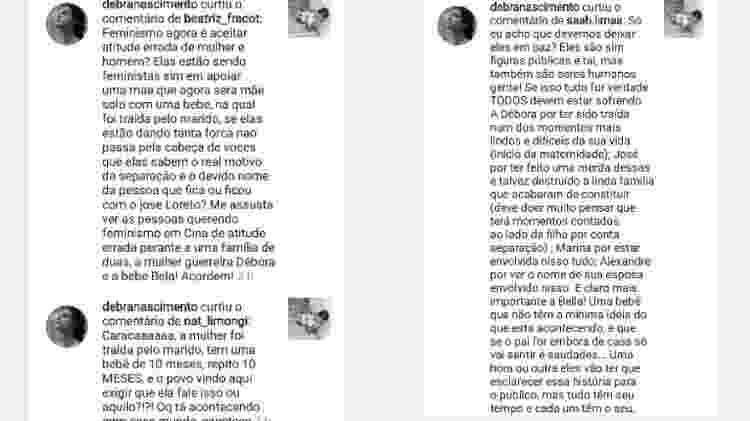Débora Nascimento curte comentários falando sobre sua separação de José Loreto - Reprodução/Instagram - Reprodução/Instagram