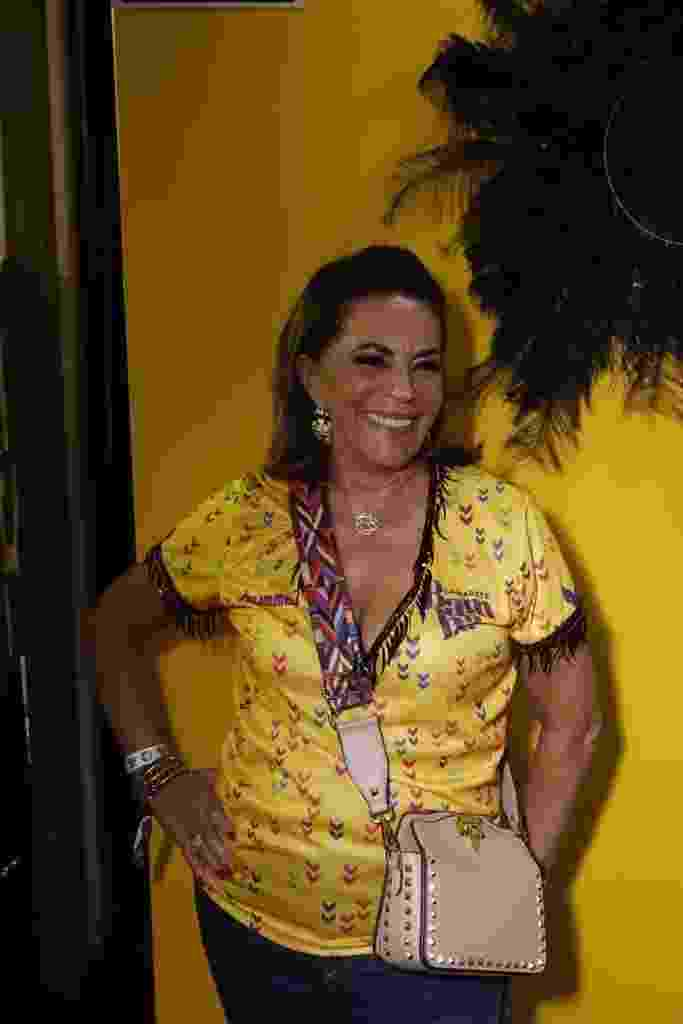 Beth Szafir curte o Carnaval no Camarote Bamba, em São Paulo - Ricky Hiraoka/UOL