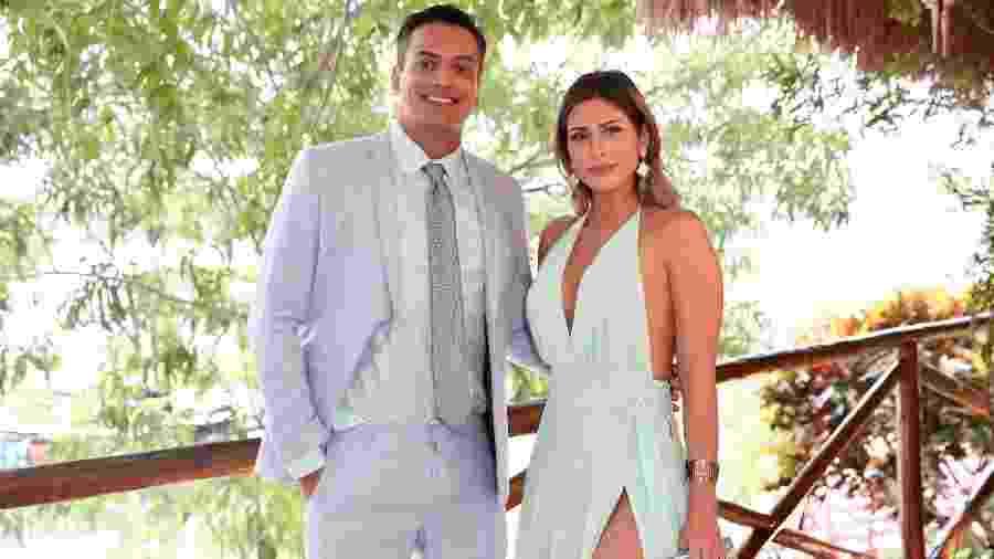 Leo Dias e Lívia Andrade no casamento de Carlinhos Maia - Manuela Scarpa/Brazil News