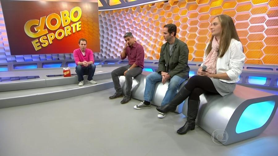 """Ivan Moré chorou na despedida de Tiago Leifert do """"Globo Esporte"""" - Reprodução/TV Globo"""