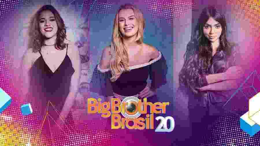 """Ana Clara Lima, Fernanda Keulla e Nyvi Estephan, as repórteres do """"BBB20"""" - Arte da Globo"""