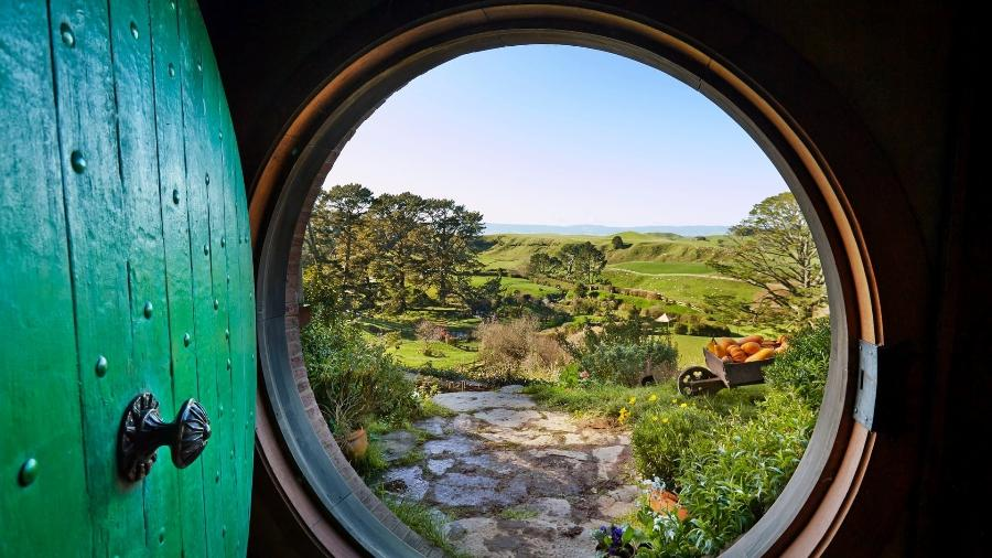 """Cenário na Nova Zelândia utilizado para gravar as cenas da saga dos filmes """"O Senhor dos Anéis"""" - Divulgação"""