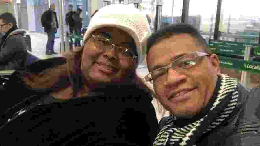 Fabiana Anastácio e o pastor Ruben Nascimento; casal estava junto havia mais de 20 anos - Arquivo pessoal