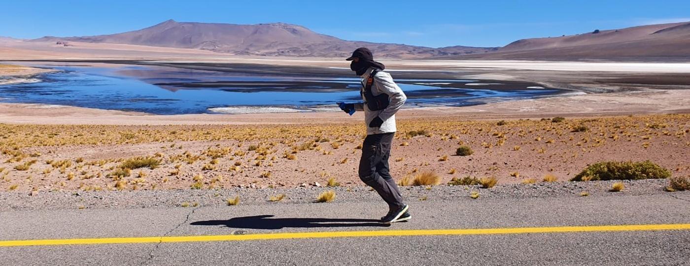 Entre os extremos do continente: de Ushuaia, na Argentina, até o Alasca, nos EUA, Juan percorrerá 26 mil quilômetros correndo - Arquivo pessoal