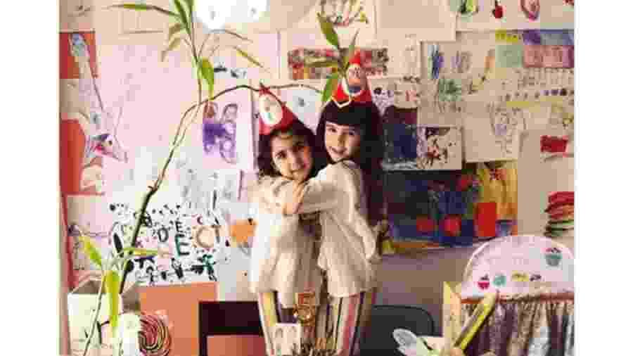 Na quarentena, Ana e Antônia na comemoração de seu aniversário de 5 anos - Arquivo pessoal