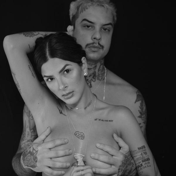 Laryssa Bottino faz ensaio sensual com Rômulo Deu Cria e fala de amizade colorida: 'É leve, é gostoso'