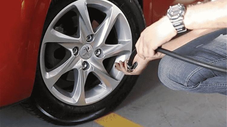 Calibragem pneu - Reprodução - Reprodução
