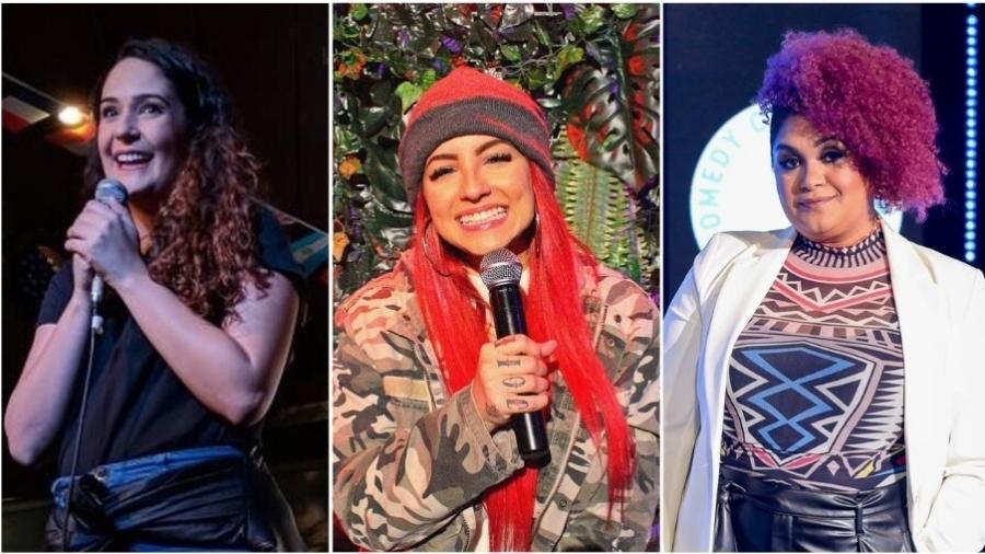 Ste Marques, Gabriela Abdala e Niny Magalhães são nomes que despontam no stand up comedy - Divulgação