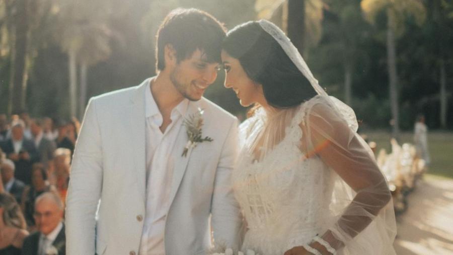 Jade Seba e Bruno Guedes, influenciadores, se casaram emcerimônia no Rio de Janeiro - Reprodução/Instagram