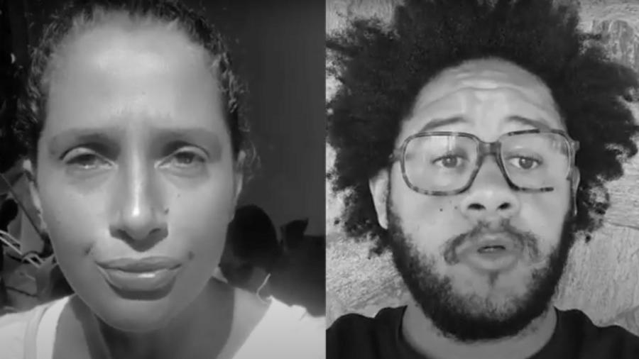 Camila Pitanga e Emicida na campanha Tem Gente com Fome - Reprodução