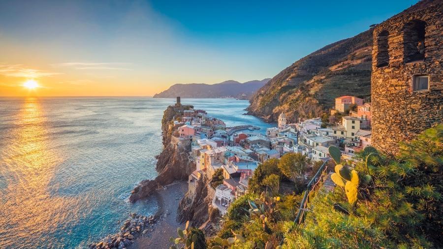 Liguria, na Itália; O país firmou um decreto em que prorroga as medidas restritivas para viajantes que estiveram no Brasil - Getty Images