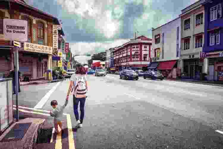 Localizado no extremo leste do centro de Cingapura, Geylang é o único distrito da luz vermelha legalizado na cidade - Getty Images - Getty Images