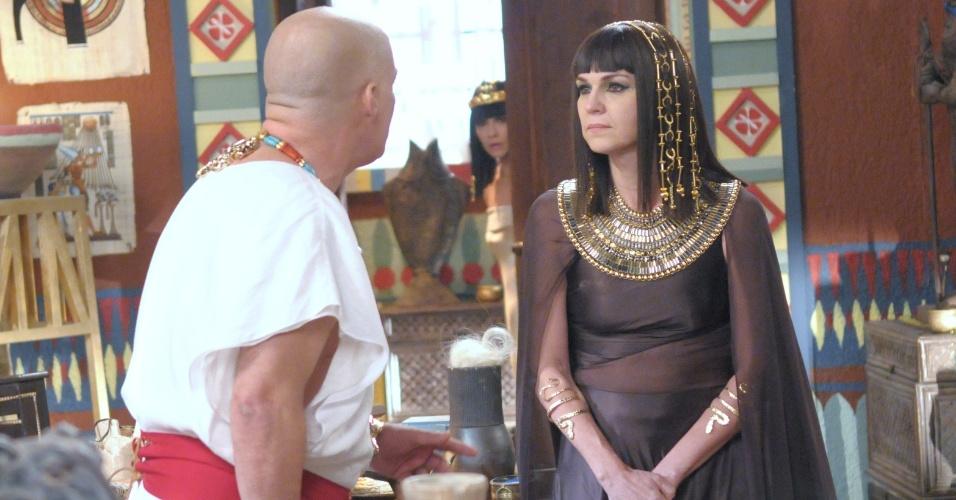 Nefertari denuncia a própria mãe ao descobrir que ela é a assassina do faraó Setti (Zecarlos Machado)