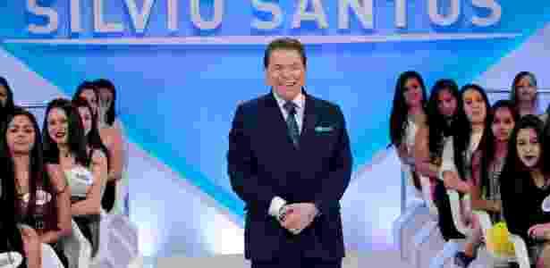 O apresentador Silvio Santos em seu programa no SBT - Lourival Ribeiro/Divulgação/SBT
