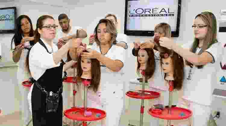 Curso de cabeleireiro do Instituto L'Oreal - Divulgação - Divulgação