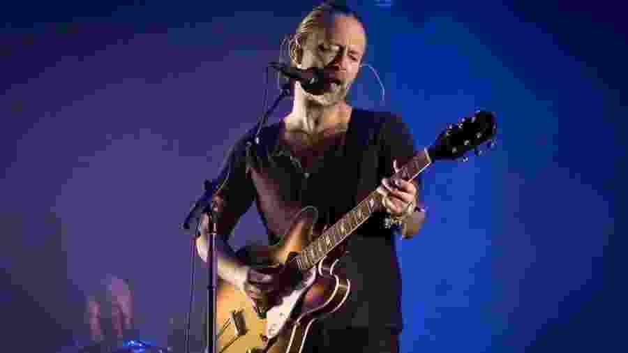 Thom Yorke, líder do Radiohead, ficou irritado com os protestos durante o seu show - Getty