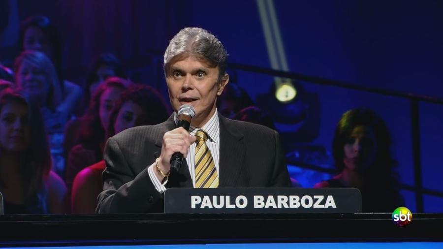 """Paulo Barboza no """"Troféu Imprensa"""", do SBT, em 2013 - Reprodução/SBT"""