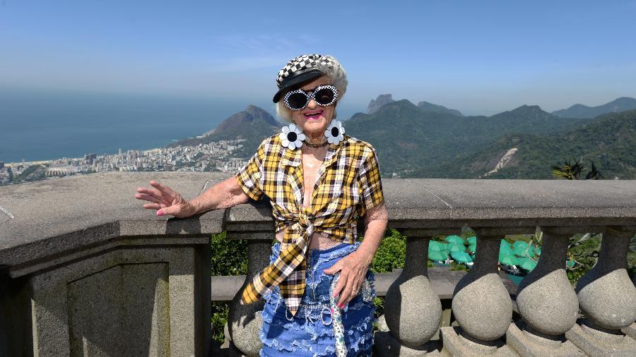Baddie Winkle na vista do Cristo Redentor, no Rio de Janeiro - Divulgação