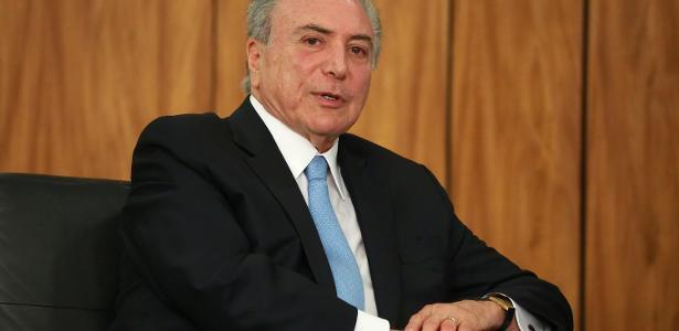 23.10.2017 - O presidente Michel Temer durante cerimônia no Palácio do Planalto
