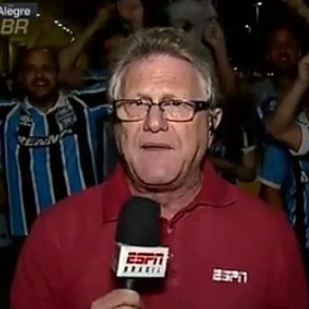 Repórter Cícero Mello da ESPN - Reprodução/ESPN