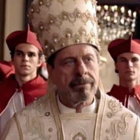 """Flávio Galvão interpreta o inescrupuloso Stefano Nicolazi em """"Apocalipse"""" - Reprodução/Record"""