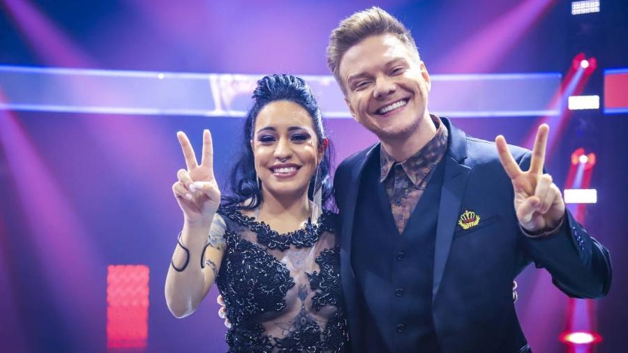 """Samantha Ayara e Michel Teló, time vencedor do """"The Voice Brasil"""" - Divulgação"""