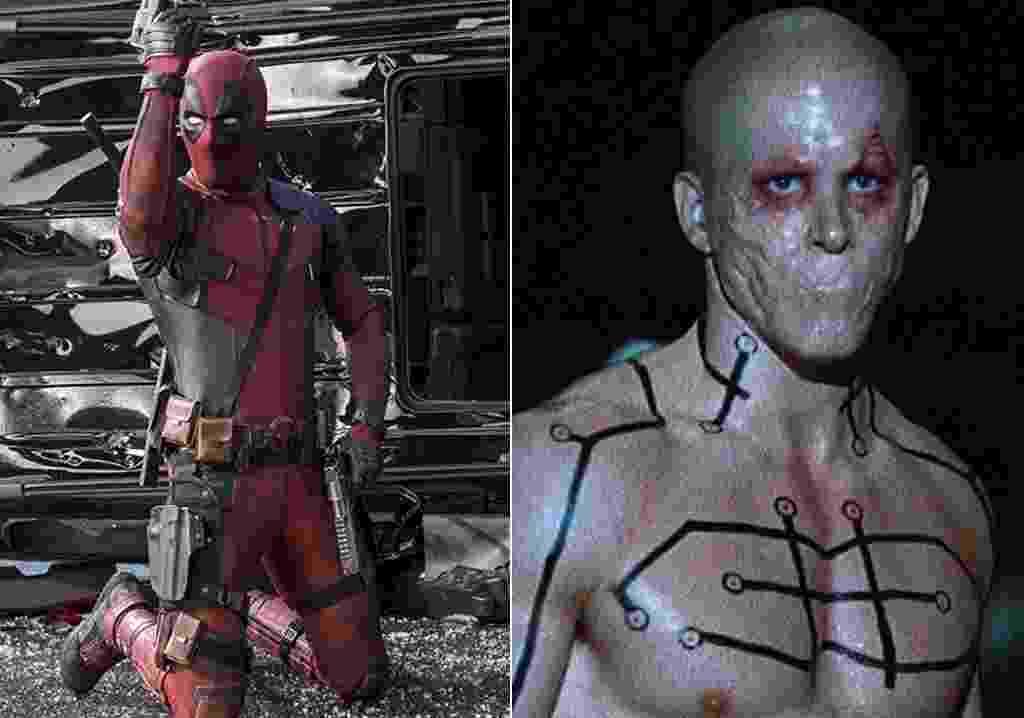 """Ryan Reynolds em cenas nos filmes """"Deadpool"""" (2016) e """"X-Men: Origens - Wolverine"""" (2009) - Divulgação"""