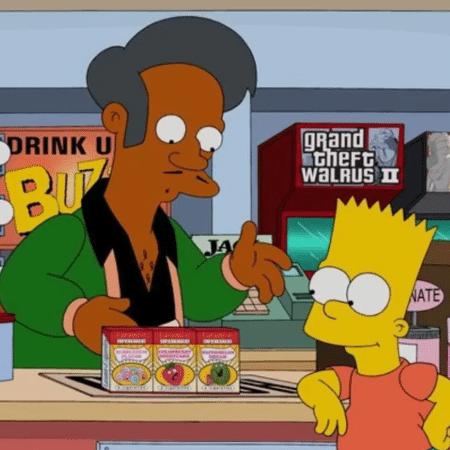 Apu, personagem dos Simpsons, está no centro de polêmica - Reprodução