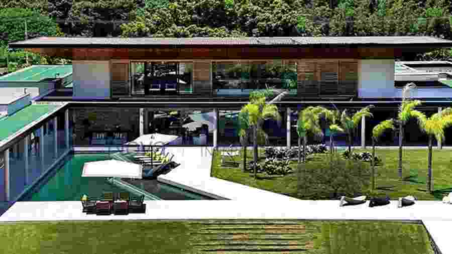 Mansão de Neymar em Mangaratiba tem dois pavimentos e heliponto exclusivo - Reprodução