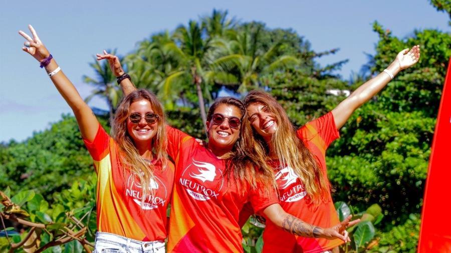 Chloé, Silvana e Nicole: de bem com a maneira como são tratadas do surf - Divulgação/Pedro Monteiro