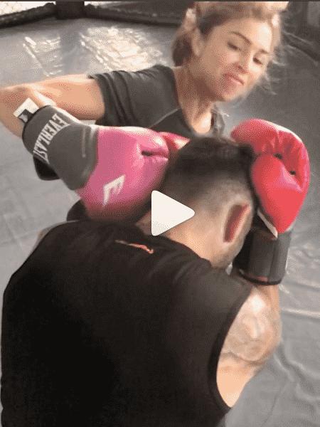 Grazi Massafera em aula de luta com Chico Salgado - Reprodução/Instagram