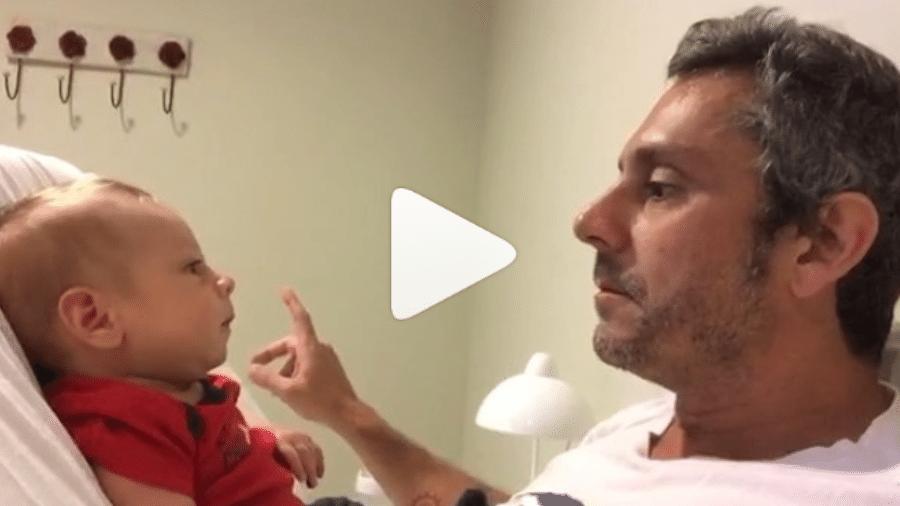 Alexandre Nero com o filho, Noá - Reprodução/Instagram