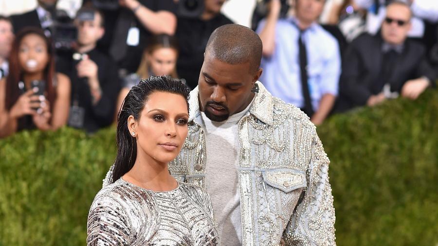 Kim Kardashian e Kanye West - Getty Images